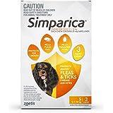 Simparica Chew Tab for Dogs 5.1-10 kg Pack, Orange, 3pk