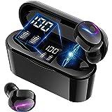 【最新Bluetooth5.2技術】 Bluetooth イヤホン ワイヤレスイヤホン 両耳 左右分離型 最大40時間音楽再生 瞬時接続 マイク内蔵 IPX5防水 Siri対応 ハンズフリー 通話 自動ペアリング ブルートゥース イヤホン 技適認証済