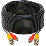 100FT Black Premade BNC Video Power Cable / Wire For Security Camera, CCTV, DVR, Surveillance System, Plug & Play (Black, 100