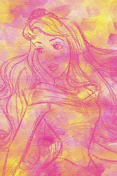 ディズニー  iPhone/Androidスマホ壁紙(640×960)-1 - オーロラ姫