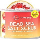 O Naturals Exfoliating Dead Sea Salt Grapefruit Essential Oil Face Body & Foot Scrub. w/ Vanilla &. Hydrating Exfoliate Dead