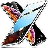 ESR iPhone Xs / X ケース ガラス背面 TPUバンパー 5.8インチ ネイキッド(クリア)
