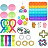 25 Pcs Fidget Toy Set, Fidget Toys Pack for Kids or Adults, Figetget Toys Pack Figit Toys, Anti-Anxiety Tools, Fidgeting Game