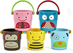 Skip Hop Zoo Bath Stack and Pour Buckets