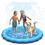 """QPAU Sprinkler for Kids, Sprinkle and Splash Play Mat 68"""",Outside Toy Water Toys for Kids Outdoor, Outdoor Toys for Toddlers"""