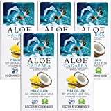 Aloe Cadabra Edible Pina Colada Flavored Lubricant - All Natural for Best Sex Personal Lube & Oral Sex Gel for Men, Women & C