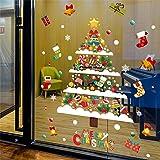 Christmas Decoration Combination Decals - Christmas Window Sticker/Anti-Static Vinyl Self-Adhesive Wall Decal/Christmas Decor