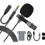 【2021年最新改良版】ピンマイク クリップマイク コンデンサーマイク 高音質 ミニマイク イヤホン連接可 低ノイズ クリップ式スマホマイク 3.5mm ジャック Android/PC/iPhone/iPad/カメラ対応 YouTube 動画撮影 V