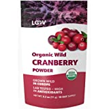Organic Wild Cranberry Powder, Made from 100% Whole Organic Cranberry Fruit, Freeze Dried and Powdered Cranberries, Raw, 18-D
