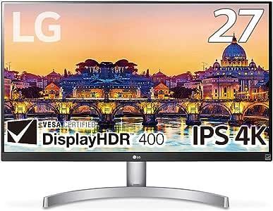【Amazon.co.jp限定】LG モニター ディスプレイ 27UL600-W 27インチ/4K/DisplayHDR400/IPS非光沢/HDMI×2、DisplayPort