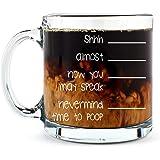 Shh. Nevermind, Time to Poop Mug - Funny Poop Mug - 13OZ Glass Coffee Mug - Mugs for Women, Boss, Friend, Employee, or Spouse