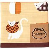 Miyamoto-Towel宮本 風呂敷 日本製 お弁当 クロス 綿 おかみさん 小風呂敷 猫 約50×50cm 30044風呂敷猫