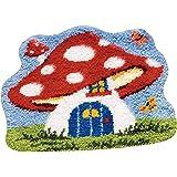 MLADEN Latch Hook Kits DIY Tools Crocheting Rug Embroidery Shaggy Decoration (Mushroom)