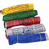 Tibetan Wind Horse Lungta Prayer Flags - 5 Vibrant Color Sets 6 x 6 inches- Pack of 50