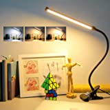 Clip On Reading Light,Led Desk Lamp with USB Charging Port,3 Color Temp,11 Brightness Level,Stepless Dimming,Eye-Care Clamp T