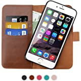 SHANSHUI Wallet Case Compatible iPhone 6/6s, iPhone 7 and iPhone 8, Premium PU Leather RFID Blocking Magnetic Removable Folio