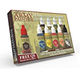 The Army Painter Warpaints Starter Paint Set | 10 Acrylic Paints and 1 Brush | for Beginners in Wargames Miniature Model Pain