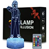 Magiclux 3D Illusion Night Light for Stranger Things Fans Gift, 16 Colors Changeable Desk Lamp with Remote Control Kids Bedro