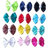 PET SHOW Dotted Line Dog Hair Bows with Clips for Small Dogs Bowknot French Barrette Clip for Puppy Cat Grooming Hair Accesso
