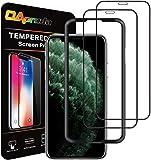 OAproda iPhone 11 Pro/Xs/X 全面保護フィルム 液晶強化ガラス 2枚セット/ガイド枠付き 5.8…