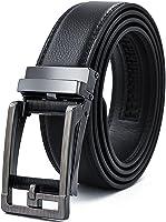 NEWHEY ベルト メンズ 牛革 高級 自動ロック式 バックル レザーベルト ビジネス カジュアルファッション 紳士 プレゼント ブラック 茶色 125cm 115cm