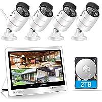 【300万画素・販売年数5年以上】YESKAMO 防犯カメラ ワイヤレス 屋外 wifi 12インチ一体型 増設自由 H…