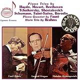 Piano trios, piano quartet, horn trio by Gilels, Kogan, Rostropovich