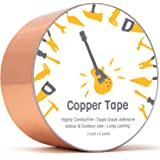 Copper Foil Tape (2inch x 18ft) for Guitar and EMI Shielding, Slug Repellent, Crafts, Electrical Repairs, Grounding - Conduct