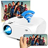 WiFi Video Projector 2800Lux, Full HD 1080P Ifmeyasi Wireless Mini Projector, Portable Movie Projector for Home Outdoors, USB