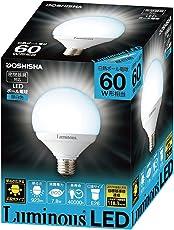 ルミナス LED電球 口金直径26mm 60W相当 昼白色 広配光タイプ 密閉器具対応 ボール球 CM-G60GN