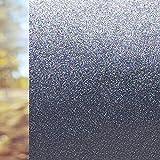 Duofire® 【高遮光・高不透明度】窓用フィルム 目隠しシート 紫外線(UV)カット 日差し・西日対策 プライバシー保護 装飾ガラスフィルム 無接着剤 静電気吸着 水で貼る・貼り直し可能,DT-005 ブルーブラック(30×200cm)