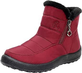 スノーブーツ レディース 雪用ブーツ スノーブーツ ショートブーツ 撥水加工 ウインターブーツ 防寒靴 防水スプレー アウトドアシューズ 裹起毛 もこもこ あったか 防寒 裏ボア 防水 滑り止め 大きいサイズ 美脚 雪靴 綿靴 防寒 保温 冬用ブーツ