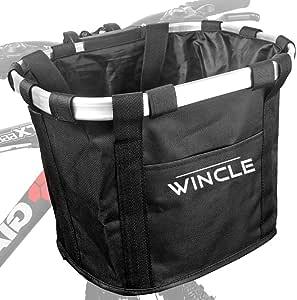 Wincle 自転車 前 かご (カゴ) フロントバスケット 簡単 着脱 取り外し可能 日本語取付説明書付