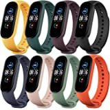 Monuary 8 Pieces Straps Compatible with Xiaomi Mi Band 5 / Amazfit Band 5, Silicone Replacement Watch Colourful Bracelet Stra
