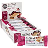 Extend Bar Bars Blood Sugar Support Snacks for Healthy Energy Intermittent Fasting 1.48 oz, Yogurt and Berry, 15 Count (61101
