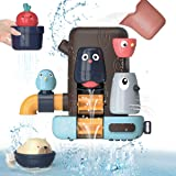 KaeKid Baby Bath Toys, Toddlers Bathtub Toy Games, 16 Months+ Baby Toddlers Animal Shower Toys with Suction Cups, Water Toys