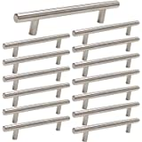 3 inch T Bar Kitchen Cabinet Handles Brushed Nickel Drawer Pull 15 Pack - Homdiy HD201 Stainless Steel Drawer Pulls Cabinet D