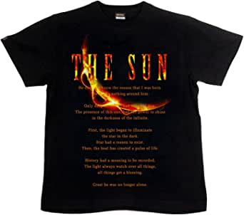 [GENJU] Tシャツ 太陽 アメカジ アメカジ 裏もデザイン有 メンズ キッズ