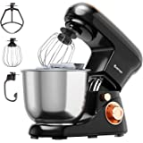 Costway Stand Mixer, 6-Speed Tit-Head Food Mixer, 800W Kitchen Electric Food Mixer w/Dough Hook, Beater, Whisk, 5L Stainless