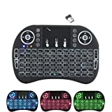 EMEBAY - 2.4GHz i8 Mini Wireless Keyboard with Touchpad Mouse LED Backlit for PC Xbox 360 Xbox One PS3 PS4 Google Android TV