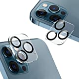 [2 Pack] Compatible with iPhone 12 Pro Max Camera Lens Protector [Tempered Glass][Anti-Scratch][9H Hardness] HD Clear Back Le