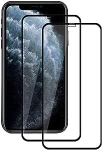 【2枚セット】iPhone 11 Pro/iPhone XS/iPhone X ガラスフィルム 日本製素材旭硝子製 全面保護 硬度9H / 99%高透過率/防指紋/自動吸着/気泡ゼロ iPhone 11 Pro 液晶保護フィルム iPhone XS/X 強化ガラスフィルム