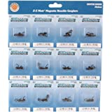 Bachmann Trains E-Z Mate Magnetic Knuckle Couplers - Center Shank - Medium - HO Scale, Sheet of 12