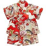 (ケヤカ) Keyaka 甚平 女の子 男の子 浴衣 子供 パジャマ キッズ 部屋着 ベビー 半袖 綿 花柄 和風 上下…