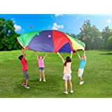 POCO DIVO 12-Foot Play Parachute Kids Canopy Children Wind Tent with 8 Handles