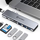USB C Hub, Macbook Pro Adapter,Aluminum Thunderbolt 3 Type C Adapter Dongle MacBook Pro Accessories with 3 USB 3.0 Ports,TF S