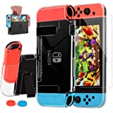 AISITIN Compatible with Nintendo Switch Case Dockable Clear Protective Case Cover for Nintendo Switch and Joy-Con Controller