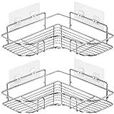 浴室ラック お風呂 ラック ステンレス 風呂 棚 バスコーナーラック シャンプーラック 2段 強力テープ固定 15kg荷…