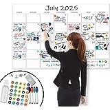 "X Large Dry Erase Wall Calendar - 24""x 36"" Premium Giant Oversized Undated Erasable Deadline Task Calendar for 2020 - Jumbo M"
