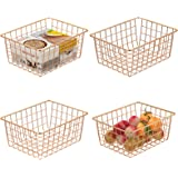 Wire Basket, Cambond 4 Pack Wire Baskets for Storage Durable Metal Basket Pantry Organizer Storage Bin Baskets for Kitchen Ca
